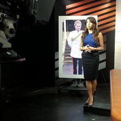 Aliya-Jasmine Sovani. Aliya Jasmine Reporter Style TV Fashion. Pencil skirt business work attire