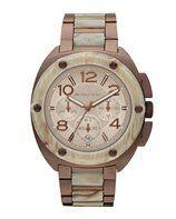 Michael Kors Tribeca Chronograph Watch in Espresso/Horn