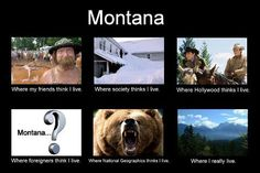 Yes Montana is the best place in the world? Montana Living, Big Sky Montana, Montana Homes, Where Do I Live, 1 Live, Big Sky Country, Small Island, Rocky Mountains, Wyoming