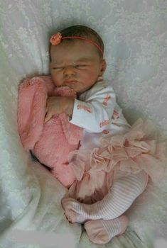 Named Esmee NUER Collection Icradle 20 Inch 50cm Real Life Reborn Baby Girl Doll Soft Silicone Baby Doll Weighted Body Toddler Doll for Age 3+