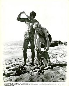 Marilyn on the beach with.......