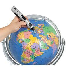 The Four Language Talking Globe - Hammacher Schlemmer