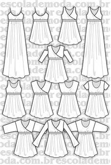 Moldes de batas e vestido império