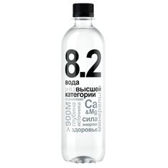 Родниковая питьевая вода 8.2 0.5 литра, без газа, пэт, 12шт. в уп.