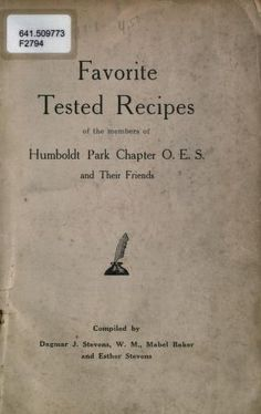 Favorite tested recipes of the members of Humbo...