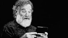 Robin Williams Tribute, Drawn Using A Nintendo Wii U, Is A Work Of Art.  To live...to live will be an awfully big adventure - by Craig