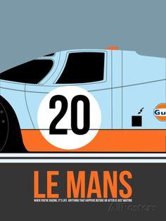 Le Mans Poster 2 Plastikschild