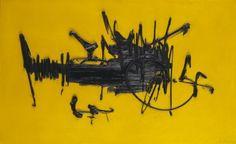 Georges MATHIEU « LULLE », 1956 Huile sur toile signée et datée en