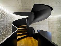 Sleek Spiral Staircase by EM2N