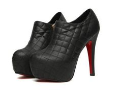 Quilted high heeled boots