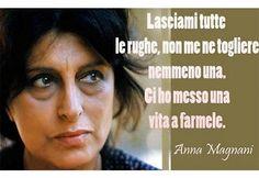 "Una volta Anna Magnani disse al suo truccatore: "" Lasciami tutte le . Anna Magnani, Italian Quotes, Learn A New Language, Woman Quotes, Cool Words, Decir No, How To Memorize Things, Told You So, Actresses"
