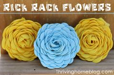 These fabric flowers are super easy to make and can be used almost anywhere!