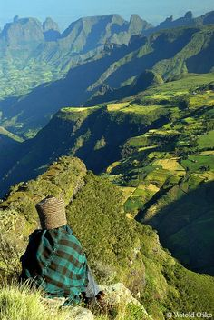 Simien Mountains National Park, Ethiopia, a UNESCO World Heritage Site. Ethiopia Travel, Africa Travel, Places Around The World, Around The Worlds, To Infinity And Beyond, World Heritage Sites, Wonders Of The World, Places To See, Safari
