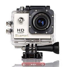 Blusmart 12 Mp 1080p Hd Sports DV 170 degree Wide Angle Car Recorder Diving Camera (Grey)