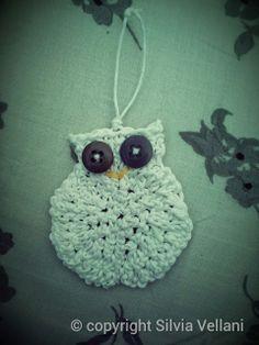 Marea di Leuko: Gufo realizzato ad uncinetto con spago Crochet owl made by cord and buttons