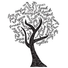 Change the look of your rooms in a heartbeat with Dezign With a Z's Tree Word Art wall stickers. Word Pictures Art, Summer Bulletin Boards, Custom Wall Decals, Mothers Day Shirts, Punch Art, Letter Art, Chalk Art, Tree Wall, Shop Signs
