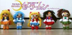 pack de amigurumis del anime sailor moon  lana de algodon y fieltro crochet