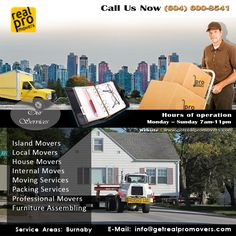 If your anywhere is Metro Vancouver, British Columbia you know who to call for all your moving needs and solutions. Packing Services, Moving Services, Local Movers, House Movers, Professional Movers, Moving Tips, British Columbia, Vancouver, City Movers