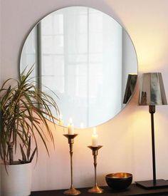 Mirrored Wallpaper, Images Wallpaper, Living Room Mirrors, Wall Mirrors, Tinted Mirror, Frameless Mirror, Circular Mirror, Dressing Table Mirror, Orbis