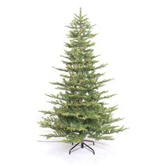 Puleo Tree Company 7.5' Pre-lit Aspen Green Fir Tree (7.5ft Prelit Tree)