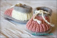 Knitted booties tutorial