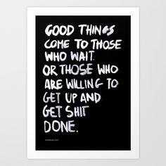 Good Things Art Print by WRDBNR | Society6