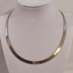 Vintage Sterling Silver 925 5.5mm Herringbone Chain Necklace 18 Inch Italy on Etsy, $39.99
