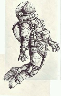 Astronaut tattoo is happening. More like brand new ' s album art Astronaut Tattoo, Astronaut Drawing, Astronaut Suit, Inspiration Art, Art Inspo, Tattoo Inspiration, Cool Drawings, Tattoo Drawings, Tattoo Muster
