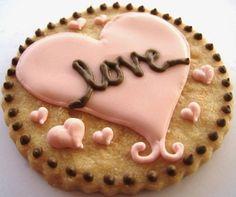 love heart cookie decor