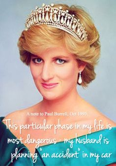 Princess Diana predicts her death in a note to her butler