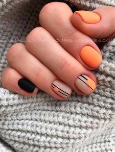 - Natural short manicure nails Matte short nails design short nails acrylic sho Natural short manicur - natural look Short Nail Manicure, Manicure E Pedicure, Minimalist Nails, Classy Nails, Stylish Nails, Hair And Nails, My Nails, Fall Nails, Fall Manicure
