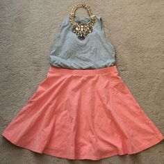 Skater Skirt This pink skater skirt is fun, flirty, and perfect for spring and summer. Comfortable and great when paired with a body suit. 95% Cotton; 5% Spandex. Forever 21 Skirts Circle & Skater