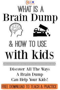Do your want to teach your kids effective ways to organize their thoughts & feelings? Develop self-expression skills and learn how to plan for projects? Sure you do! Find out What Is A Brain Dump & How To Use With Your Kids. Brain Dumps can help with educational pursuits, as well as helping your kids deal with such concerns as anxiety and anger. I created a FREE printable to help you teach your kids about & practice brain dumps-come get your download!  Brain Dump For Kids-Busy Boys Brigade