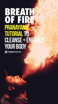 Breath of Fire is a powerful form of Pranayama and a great way to release toxins and gain energy. Learn how to practice Breath of Fire Pranayama here! Pranayama, Yoga Kundalini, Ashtanga Yoga, Yoga Restaurador, Yoga Flow, Yoga Meditation, Namaste Yoga, Yoga Art, Yoga Sequences