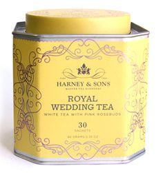 Harney & Sons royal wedding tea.
