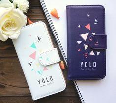 【手帳型】YOLO人生一度きり!散りばめ三角 各機種ケース対応可能!<スマホケース/iphoneケース/アイフォンケース/スマホカバー/iphoneカバー/iPad>