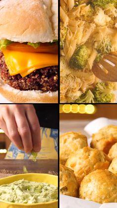 Fun Easy Recipes, Veggie Recipes, Vegetarian Recipes, Cooking Recipes, Healthy Recipes, Lunch Snacks, Food Humor, Food Videos, Food Porn