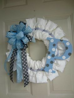 Diapers wreath