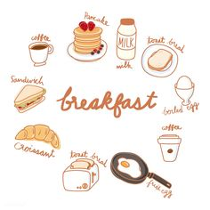Buy Illustration drawing style of food collection by Rawpixel on PhotoDune. Illustration drawing style of food collection Food Stickers, Cute Stickers, Planner Stickers, Doodle Icon, Doodle Art, Modele Flyer, Recipe Drawing, Cute Food Drawings, Buch Design