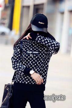 シュプリームx ルイヴィトン 大人洋服 モノグラム柄 ファッション