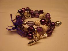 """Feeding bracelet """"Purple""""."""