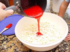 Sugar Crunch Popcorn | Jamie Cooks It Up - Family Favorite Food and Recipes Sugar Popcorn, Sweet Popcorn, Popcorn Recipes, Candy Recipes, Homemade Eggnog, Baby Shower Treats, Candy Pop, Rice Crispy Treats, Carrot Cake