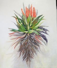 Oil Painting of a Aloe,