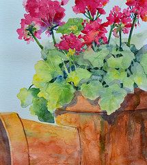 Cynthia Roudebush - Flowers and Clay Pots