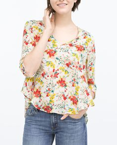 FLORAL PRINT BLOUSE-Woman-NEW THIS WEEK | ZARA United States
