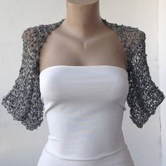 Gray Wedding Bolero-Gray Shrug-Gray grey bolero-Gray