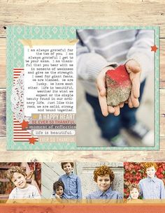gratitude layout by