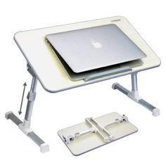 Avantree Adjustable Laptop Bed Tray, Portable Standing Desk, Foldable Sofa Breakfast Table, Notebook Stand Reading Holder for Couch Floor - Minitable