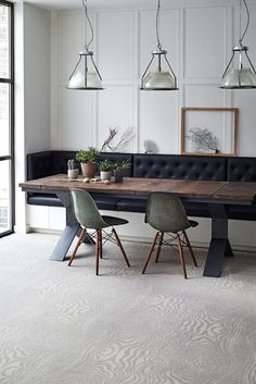 15 Chic Transitional Dining Room Interior Designs Full Of Ideas – Interior Design Trends Booth Seating In Kitchen, Dining Booth, Banquette Seating In Kitchen, Dining Room Bench Seating, Kitchen Benches, Kitchen Decor, Dining Room In Kitchen, Dinning Nook, Dining Bench With Back