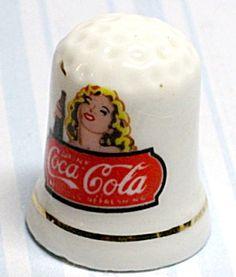Coca Cola Advertising Porcelain Thimble